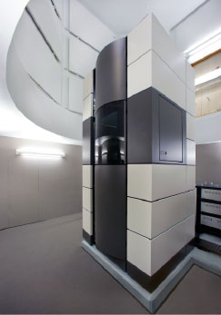 a photo of the team 1 electron microscope